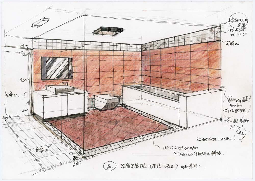 室内设计手绘高清图_室内设计手绘立面图_室内设计